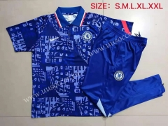 2021-22 Chelsea Cai Blue Thailand Polo Uniform-815