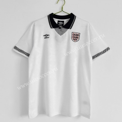 1990 Retro Version England Home White Thailand Soccer Jersey AAA-C1046