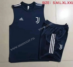 2021-22 Juventus FC Royal Blue Thailand Soccer Vest Uniform-815
