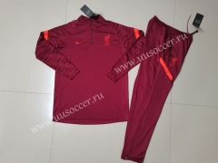 2021-22 Liverpool Red Kids/Youth Soccer Tracksuit-GDP