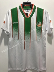 Without Adv 1994 Retro Version Ireland Away White Thailand Soccer Jersey AAA-811