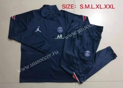 2021-22 Paris SG Jordan Royal Blue Soccer Jacket Uniform-815