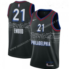 NBA Philadelphia 76ers Black #21 Jersey
