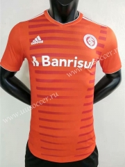 Player Version 2021-22 Brazil SC Internacional Home Orange Thailand Soccer Jersey AAA