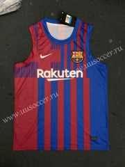 2021-2022 Barcelona Home Blue & Red Thailand Soccer Jersey Vest
