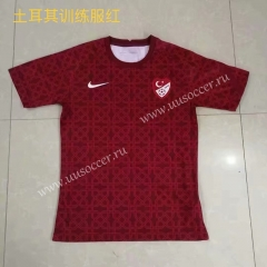 2021-22 Turkey Red Traning Thailand Soccer Jersey