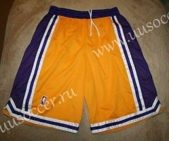 Los Angeles Lakers Yellow & Blue NBA Shorts