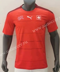 2020 European Cup Switzerland Home Red Thailand Soccer Jersey AAA-416