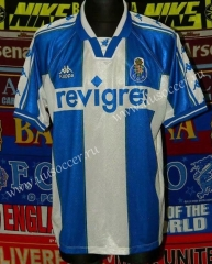 Retro version 97-99 Porto Home White&Blue Thailand Soccer Jersey AAA-503
