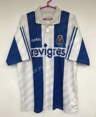 Retro version 95-97 Porto Home White&Blue Thailand Soccer Jersey AAA-503