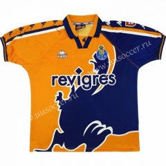 Retro version 97-99 Porto Away Blue&Yellow Thailand Soccer Jersey AAA-503