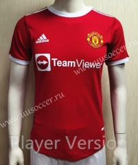 Player version 2021-2022 Manchester United Home Red Thailand Soccer jersey AAA-807