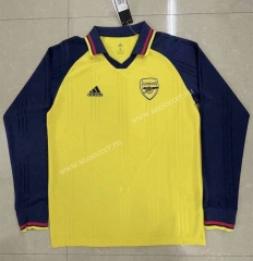 Retro Version Arsenal Yellow Thailand LS Soccer Jersey AAA-818