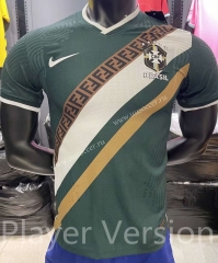 Player Version 2021-2022 Brazil Dark Green Thailand Training Soccer Jersey-KS