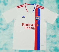 2021-2022 Olympique Lyonnais Home White Thailand Soccer Jersey AAA-HR