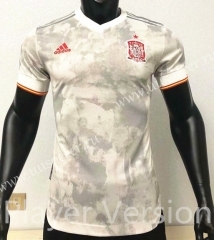 Player version 2021-2022 Spain Away White Thailand Soccer Jersey AAA-CS