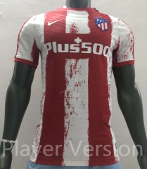 Player Version 2021-2022 Atletico Madrid Home Red & White Thailand Soccer Jersey