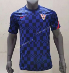 2021-2022 Croatia Blue Thailand Soccer Training Jersey-416