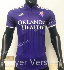 Player Version 2021-2022 Orlando City Home Purple Thailand Soccer Jersey AAA-CS