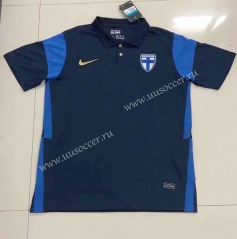 2021-2022 Finland Away Royal Blue Thailand Soccer Jersey AAA-HR