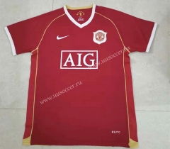 Retro Version 06-07 Manchester United Home Red Thailand Soccer Jersey AAA-HR