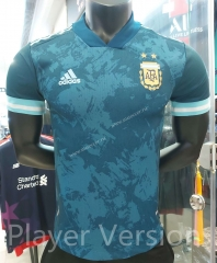 Player Version 2021-2022 Argentina Away Blue Thailand Soccer Jersey AAA