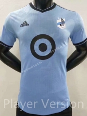 Player version 2021-2022 Minnesota United FC Light Blue Thailand Soccer Jersey AAA