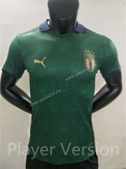 Player version 2021-2022 Italy 2rd Away  Green Thailand Soccer Jersey AAA
