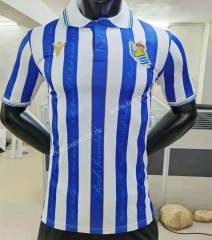 Player version 2021-2022  Real Sociedad Home Blue&White Thailand Soccer Jersey AAA-YD