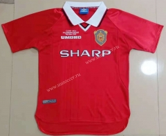 Retro Version 99-00 Manchester United Home Red Thailand Soccer Jersey AAA-908