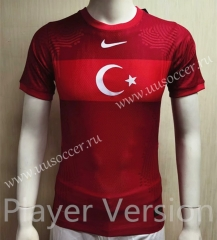 Player version 2021-2022 Turkey Home Red Thailand Soccer Jersey AAA-KS