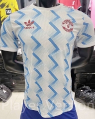 Player version 2021-2022 Manchester United 2rd Away Blue&White  Thailand Soccer jersey AAA-KS