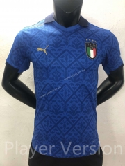 Player version 2021-2022 Italy Home Blue Thailand Soccer Jersey AAA-416