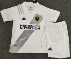 2021-2022 Los Angeles Galaxy Home White Kids/Youth Soccer Uniform