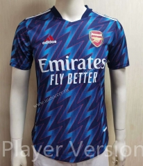 Player Version 2021-2022 Arsenal Away Blue Thailand Soccer Jersey AAA-807