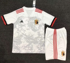 2021-2022 Cup Belgium Away White Soccer Uniform