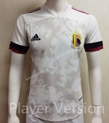 Player Version 2021-2022 Belgium Away White Soccer Thailand Jersey AAA-807