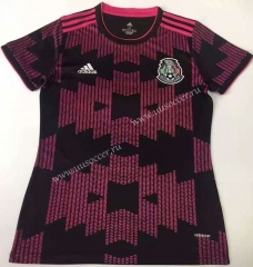 2021-22 Mexico Home Black&Purple Female Thailand Soccer Jersey-912