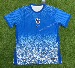 Special edition 2021-2022 France  Blue Thailand Soccer Jersey AAA-407