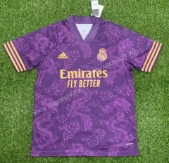 Classic version 2021-2022 Real Madrid Purple Thailand Soccer Jersey AAA-407