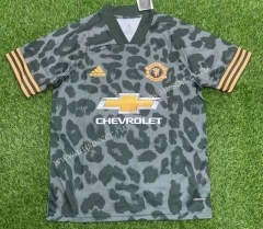 Classic version 2021-2022 Manchester United Flower Black Thailand Soccer Jersey AAA-407