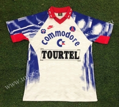 93-94 Retro Version Paris SG Away White Thailand Soccer Jersey AAA-503