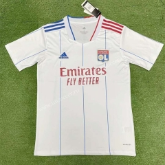 2021-2022 Olympique Lyonnais Home White Thailand Soccer Jersey AAA