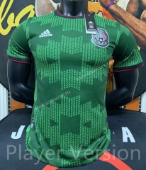Player Version 2021-2022 Mexico Away Green Thailand Soccer Jersey AAA-FL