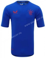 2021-2022 Glasgow Rangers Blue Thailand Training Jersey-HR