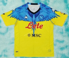Signed jointly 2021-2022 Napoli Yellow Thailand Soccer Jersey AAA-HR