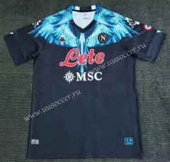 Signed jointly 2021-2022 Napoli Black  Thailand Soccer Jersey AAA-416