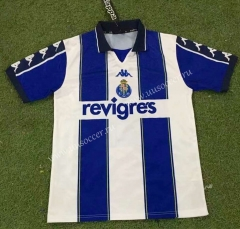 Retro version 99-00 Porto Home White&Blue Thailand Soccer Jersey AAA-503