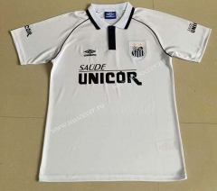 Retro Version 1997 Santos FC Home White Thailand Soccer Jersey AAA-709