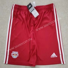2021-2022  New York Red Bulls  Home  Red Thailand Soccer Shorts